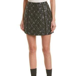 BCBGMAXAZRIA Basket Weave Jacquard Mini Skirt M
